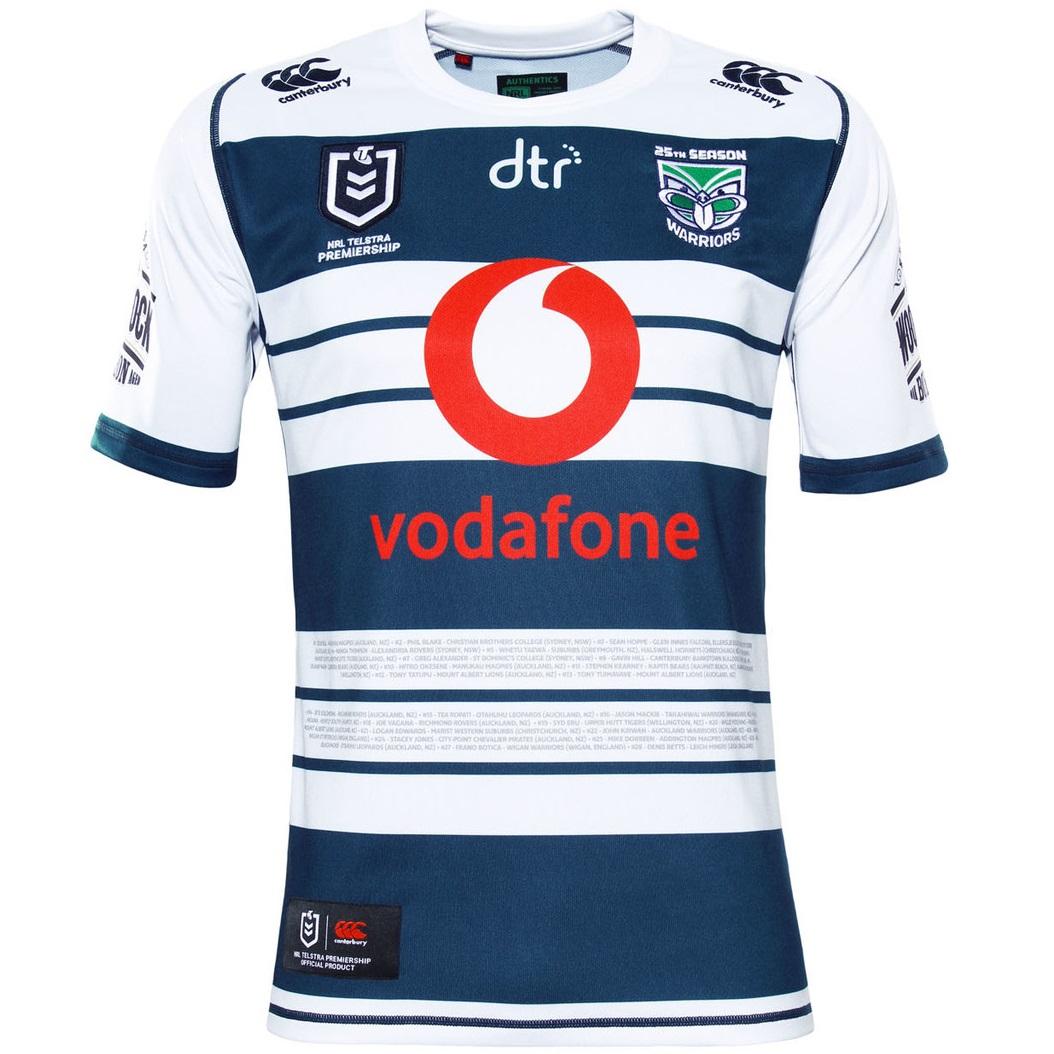 Camiseta Nueva Zelandia Warriors Rugby 2019 Heritage